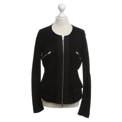 Twin-Set Simona Barbieri Wildlederblazer in Schwarz