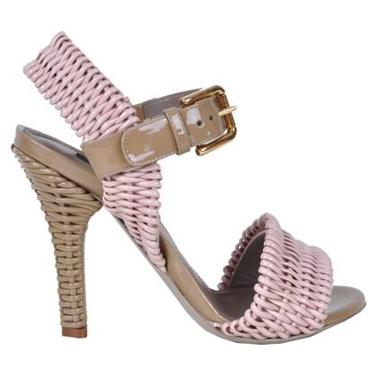 Dolce & Gabbana RUNWAY Geweven sandalen Pink