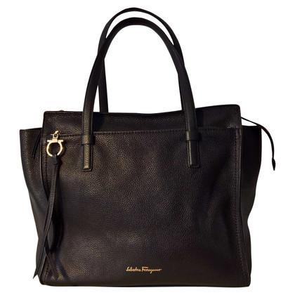 Salvatore Ferragamo Shopper in black leather