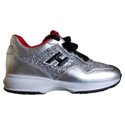 Hogan Silver colored sneakers