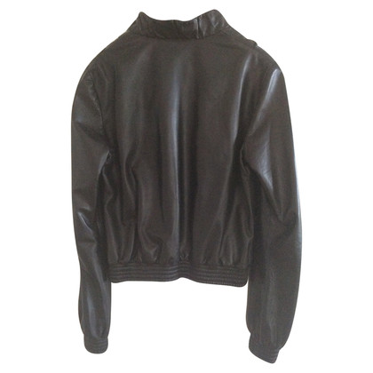 Fendi Black soft leather jacket