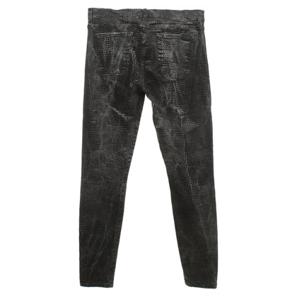 7 For All Mankind Skinny jeans in reptile look