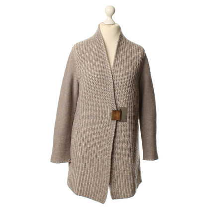 Fabiana Filippi Strickjacke in Taupe/Beige