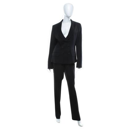 René Lezard Klassischer Anzug in Schwarz