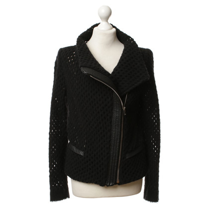 Iro Cardigan with leather trim
