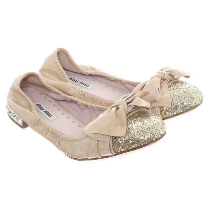 Miu Miu Ballerinas in beige