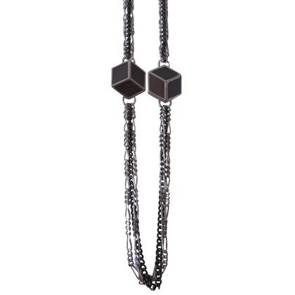 Christian Dior Necklace with cube trailers