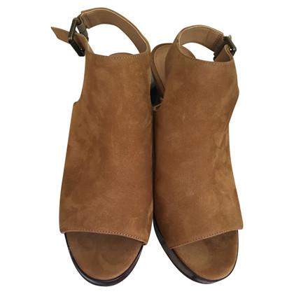 Ralph Lauren peep toes slingback