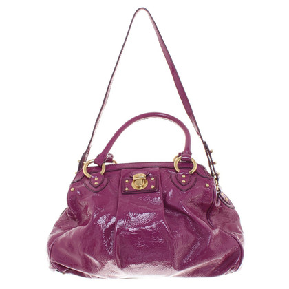 Marc Jacobs Lacquer leather handbag in purple