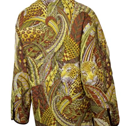 Salvatore Ferragamo Gewatteerde jas met luipaardprint