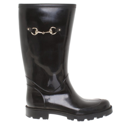 Gucci Rubber boots in black