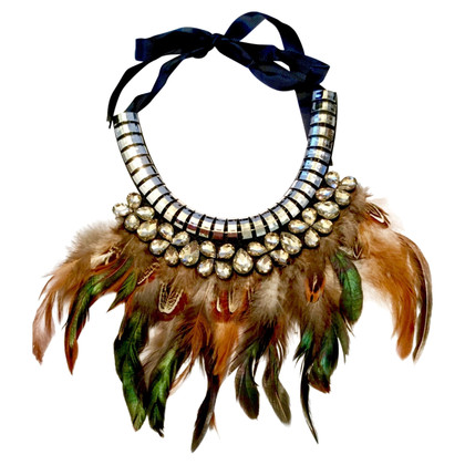 BCBG Max Azria Necklace with feathers