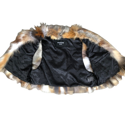Zadig & Voltaire Fur vest in multicolor