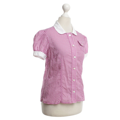 Marc Jacobs Bluse in Pink/Weiß