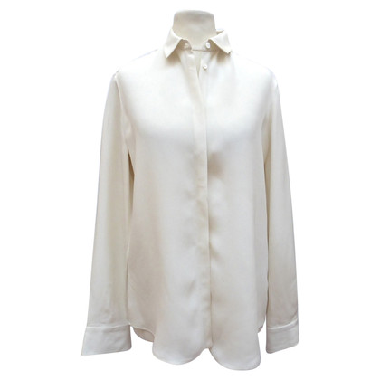 Loro Piana Two-coloured silk blouse