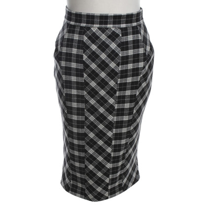 D&G Pencil skirt with check pattern