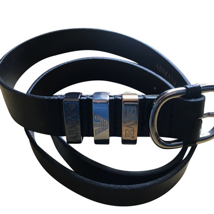 Armani Jeans Black leather belt