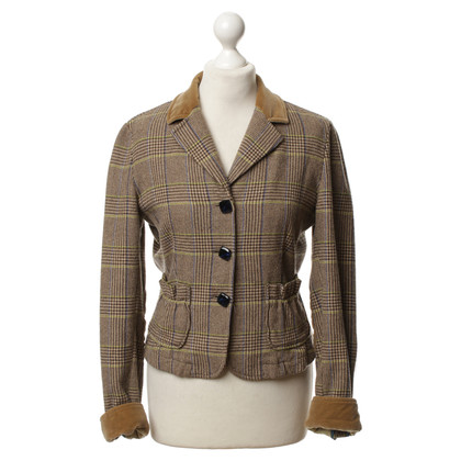 Etro Trim plaid Blazer di velluto