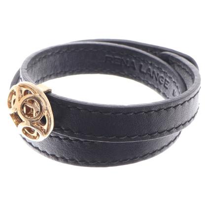 Rena Lange Leren armband in zwart
