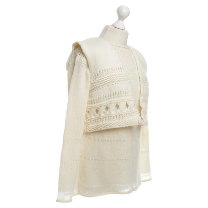 Marc Cain Sweater & Vest in Offwhite