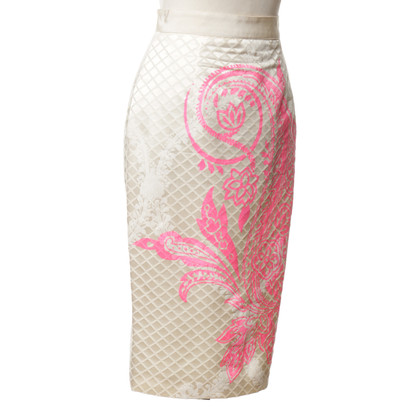 Giambattista Valli skirt with print in pink