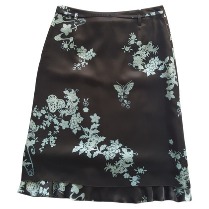 St. Emile dark brown silk skirt
