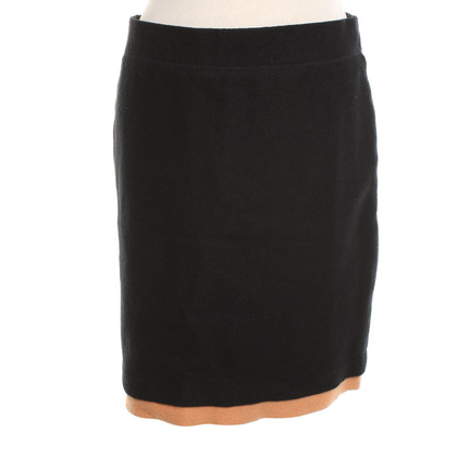 Marc Cain Pencil skirt in black / beige