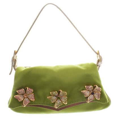 Valentino Pochette in green satin