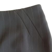 Armani Collezioni Pinstriped skirt in black