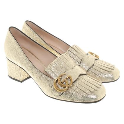 Gucci pumps in oro