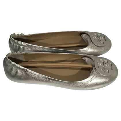 Tory Burch Ballerina's zilver