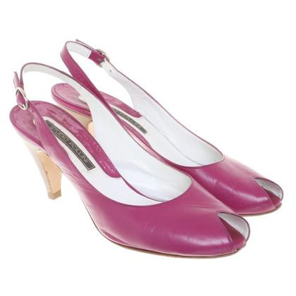 Pollini Slingback peep toes in fucsia