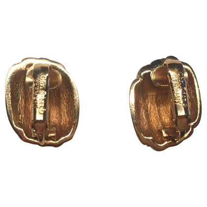 Christian Dior Gold-plated clip earrings