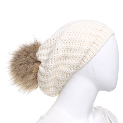 Moncler Hat with fur pompom