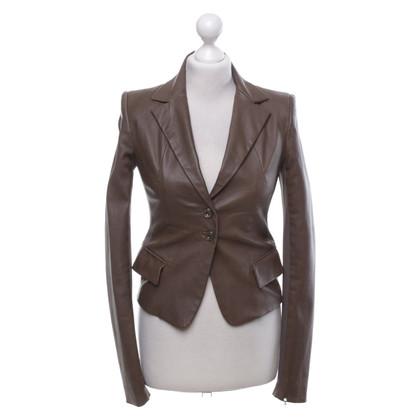 Patrizia Pepe Leather Blazer