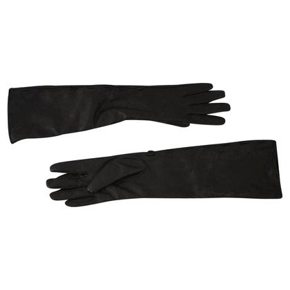 Prada Black leather gloves