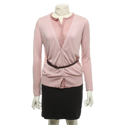 Dorothee Schumacher Cardigan with belt in pink