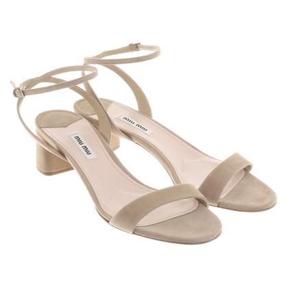 Miu Miu Sandaletten in Beige