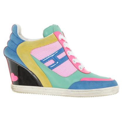 Hogan Mehrfarbige Sneaker-Wedges