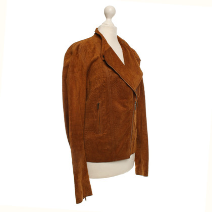 Plein Sud Short jacket in suede