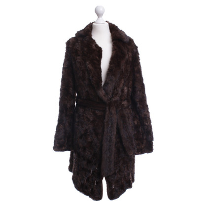 Christian Dior Mink coat with waist belt