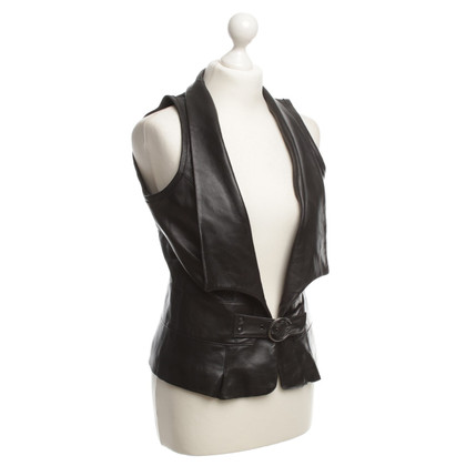 Arma Leather vest in black