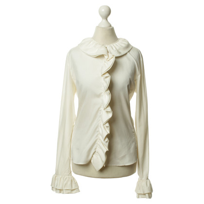 Gucci Zijden blouse met volants