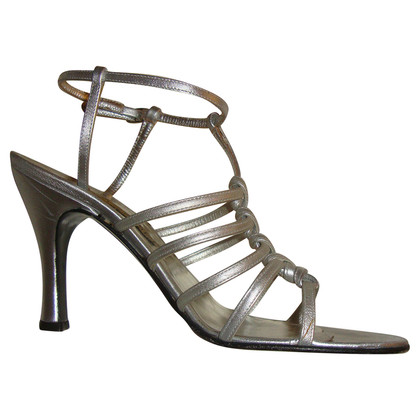 Casadei Sandaletten in Silber-Metallic
