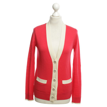 Tory Burch Cardigan in rosso / crema