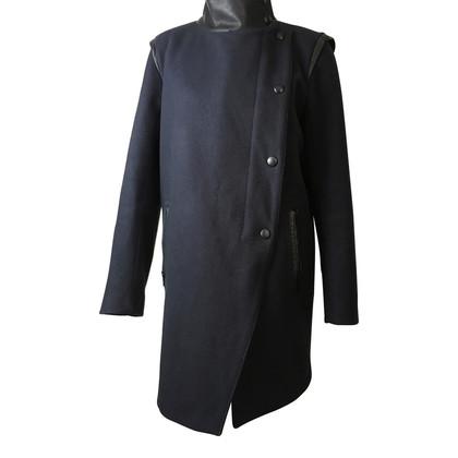 Sandro Wool coat in Navy Blue