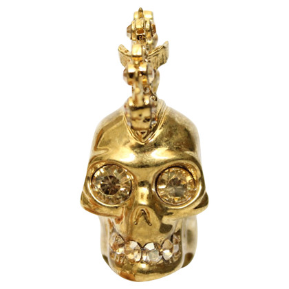 Alexander McQueen Ring met skull and crossbones motief