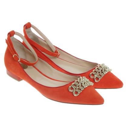 Elisabetta Franchi Ballerine in rosso corallo