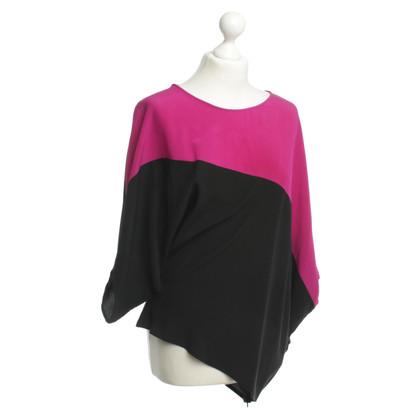 Etro Asymmetric silk top