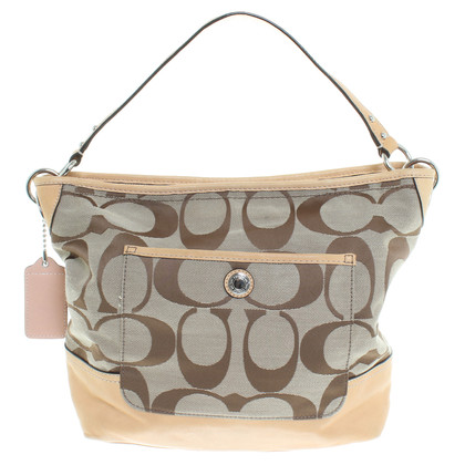 Coach Handbag with material mix
